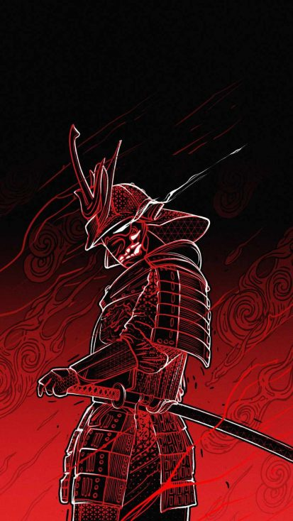 Samurai Art iPhone Wallpaper
