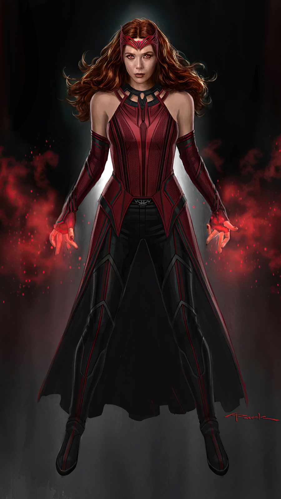 Scarlet Witch iPhone Wallpaper