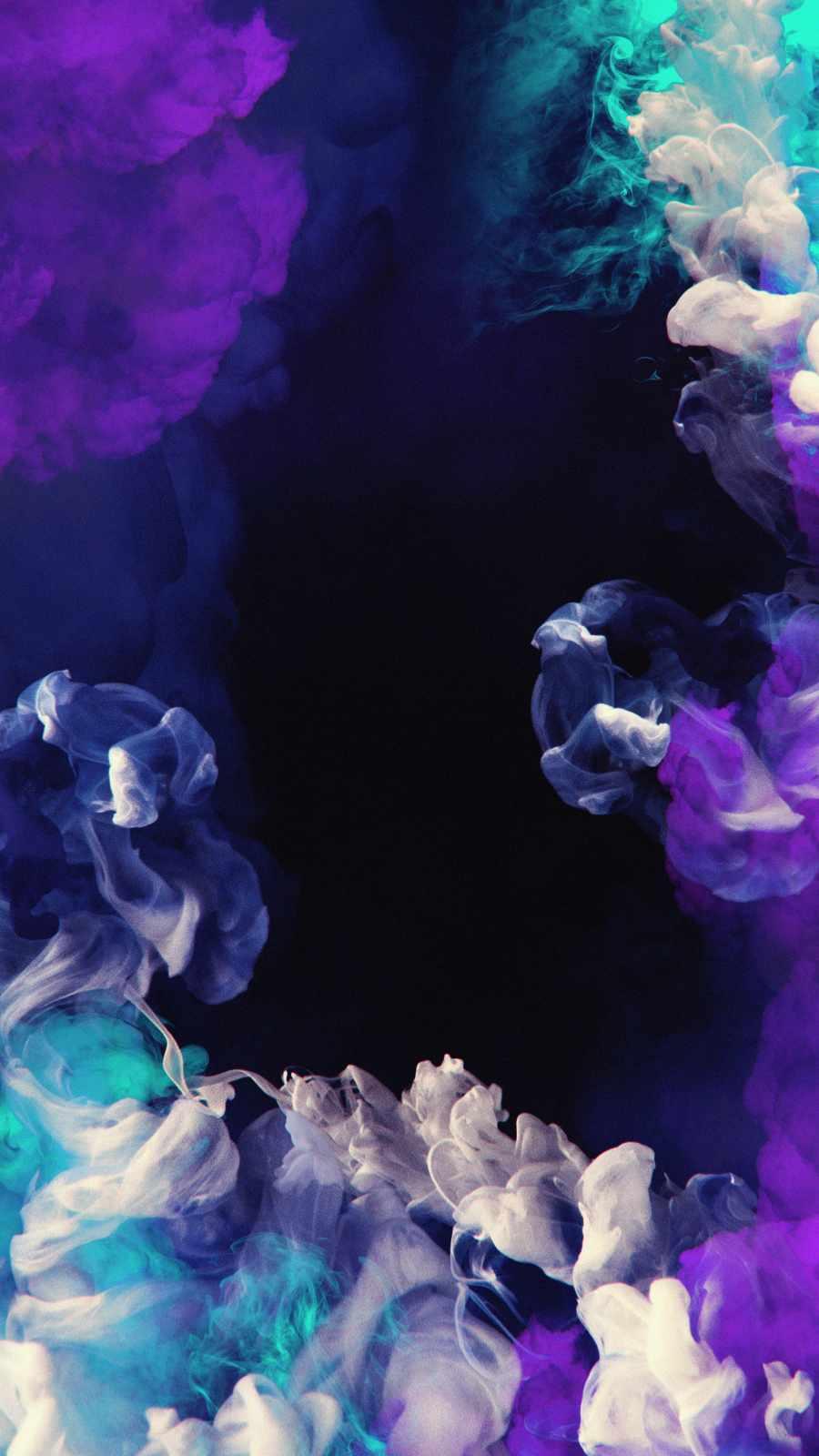 Smoke in Dark iPhone Wallpaper 1