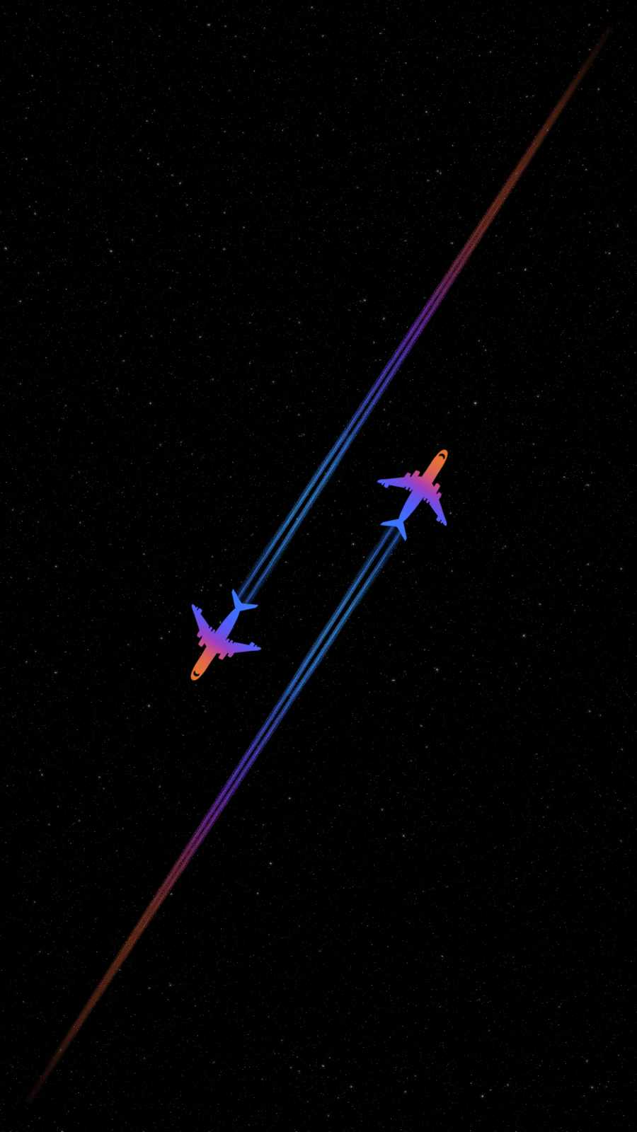 Space Planes iPhone Wallpaper