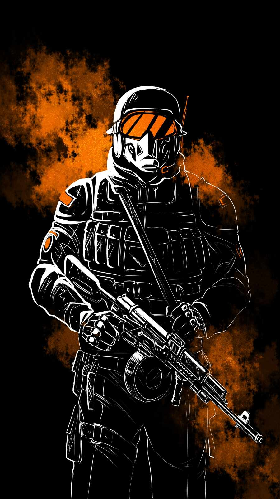 Special Soldier iPhone Wallpaper