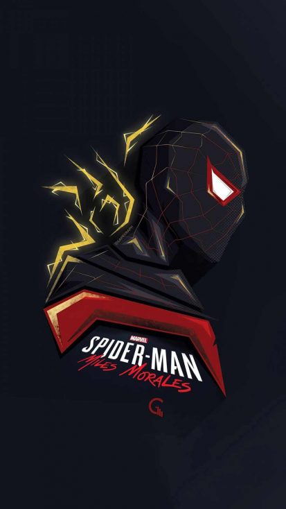 Spider Man Miles Morales Minimal Art