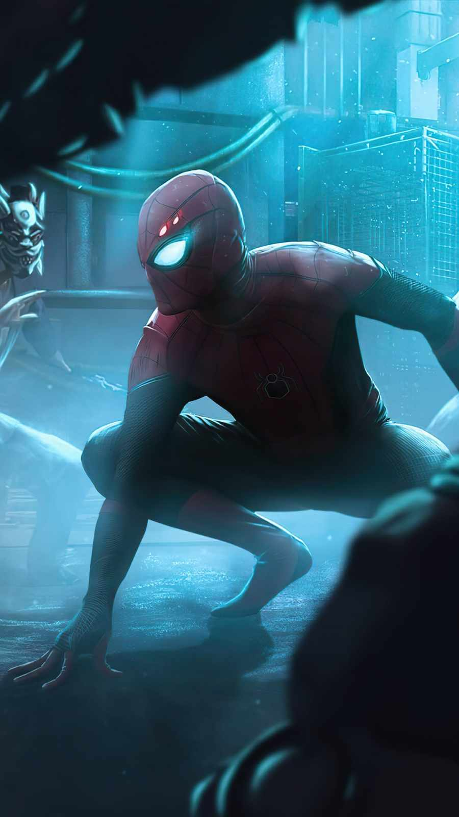 Spiderman Neon Glowing World