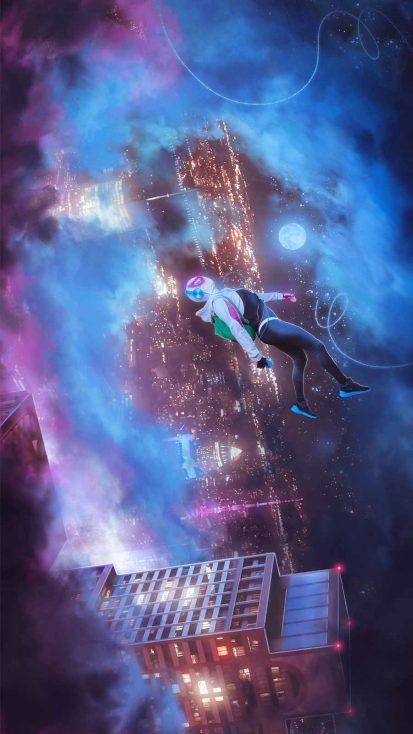 Spidey Jump iPhone Wallpaper