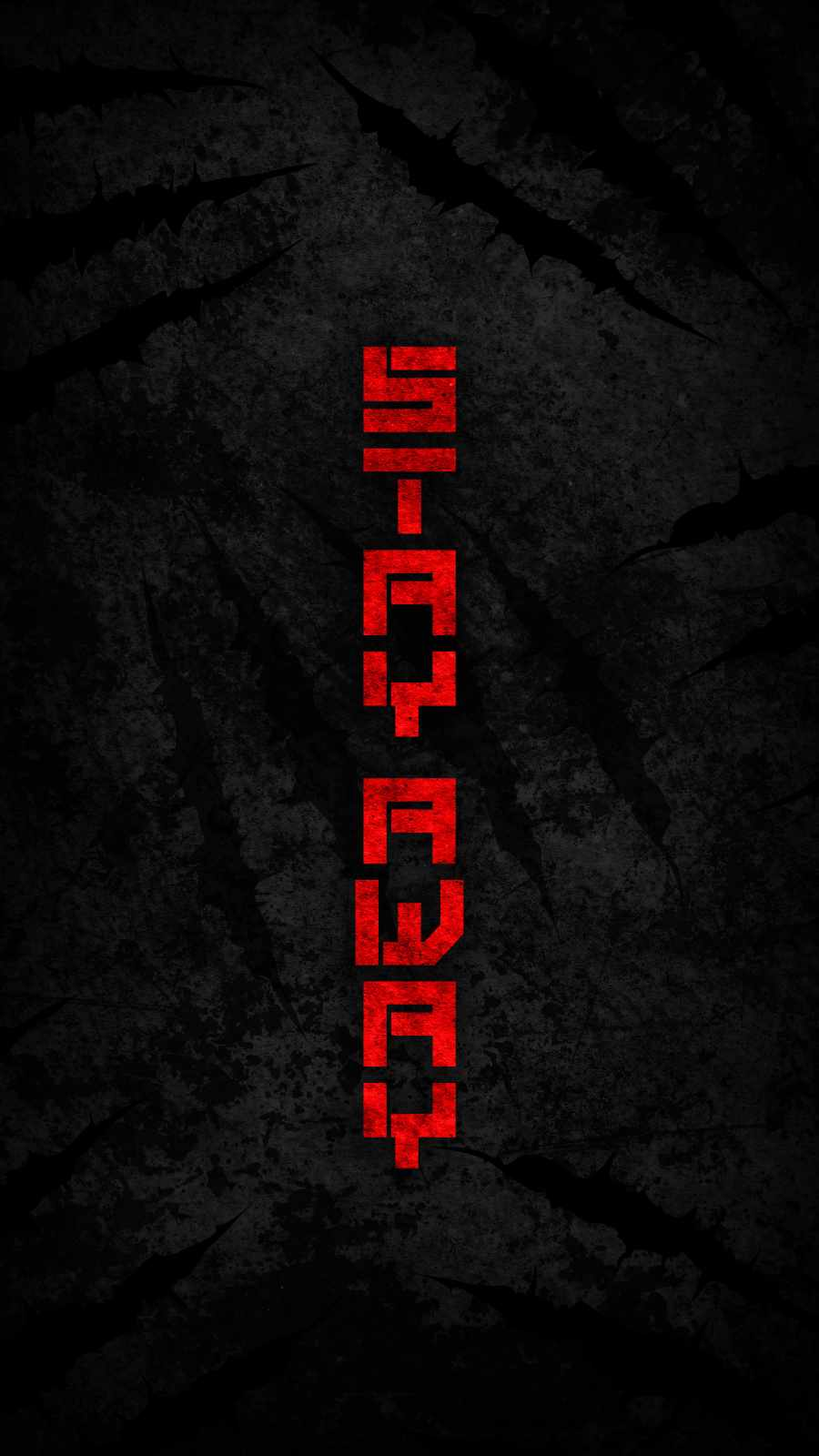Stay Away iPhone Wallpaper