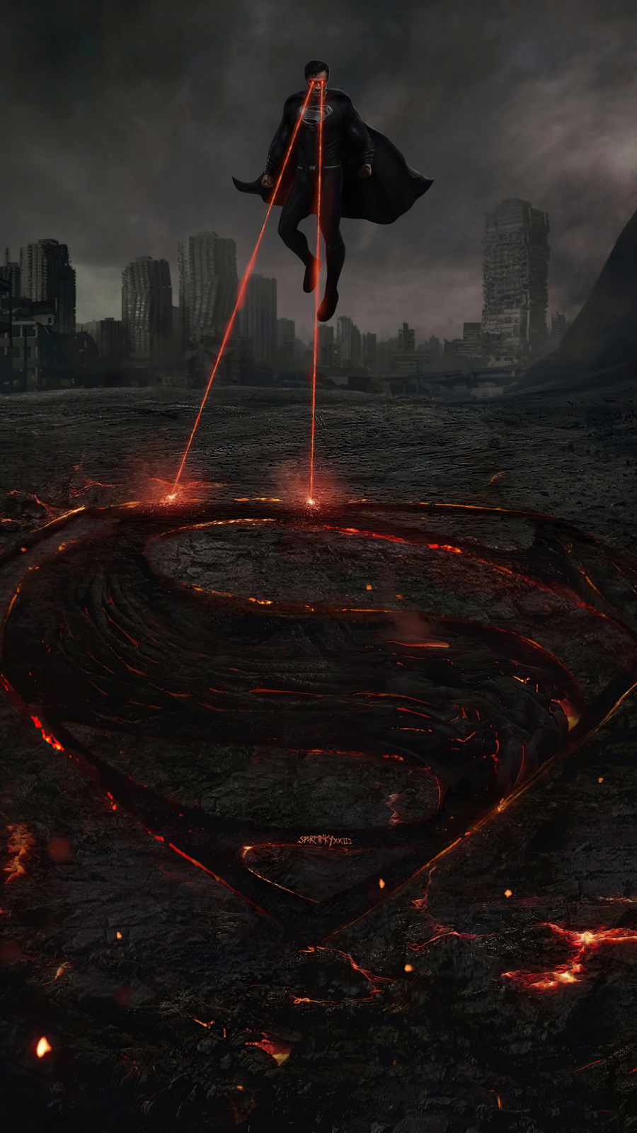 Superman Synder Cut Black Suit