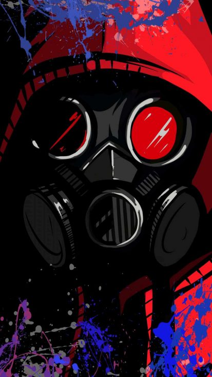 Toxic Mask iPhone Wallpaper