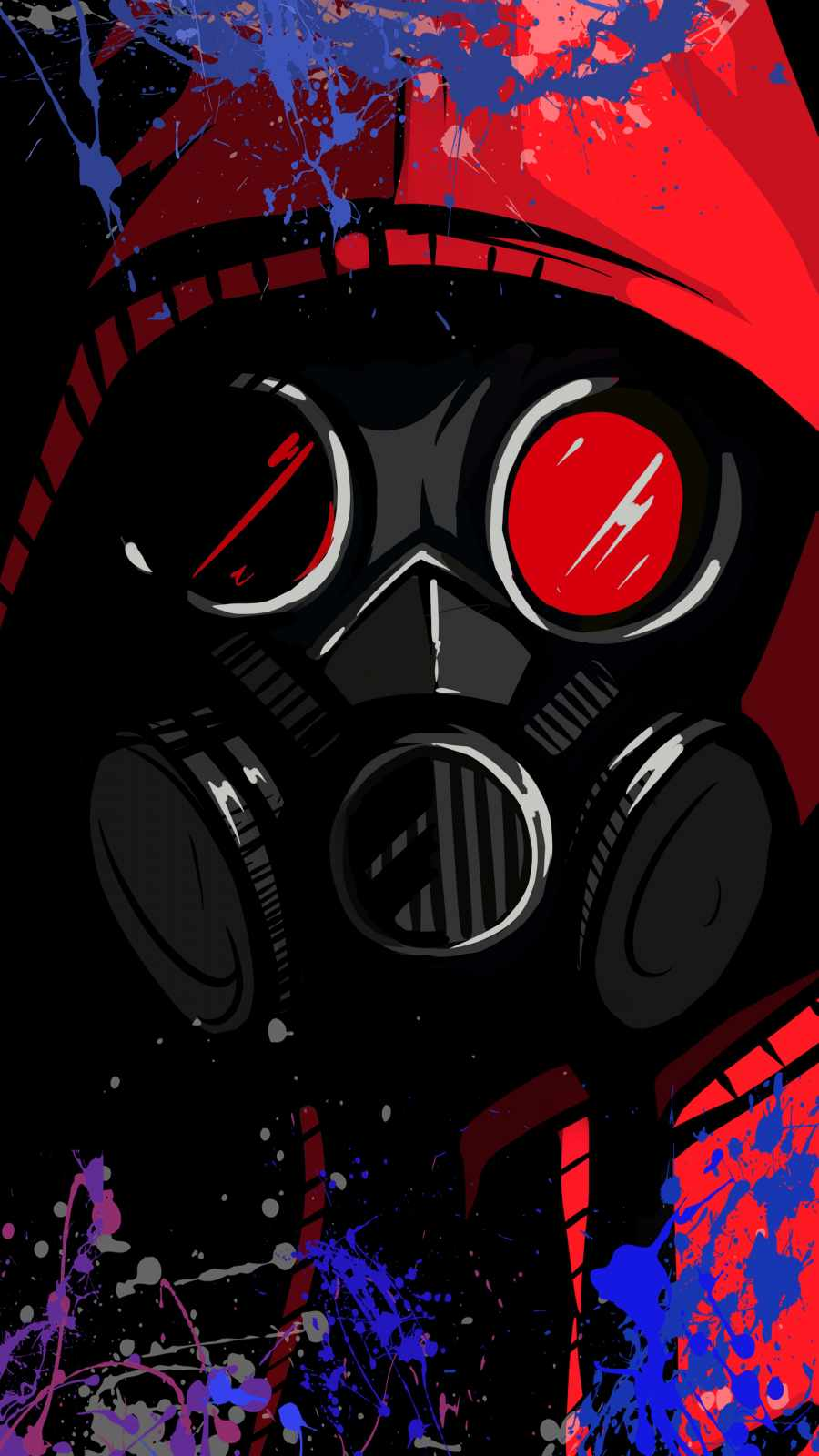 Toxic Mask iPhone Wallpaper