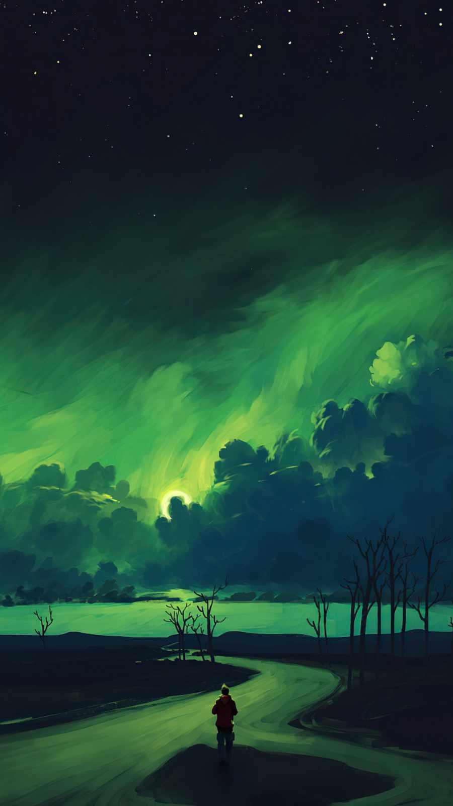Verdant Moonlight iPhone Wallpaper