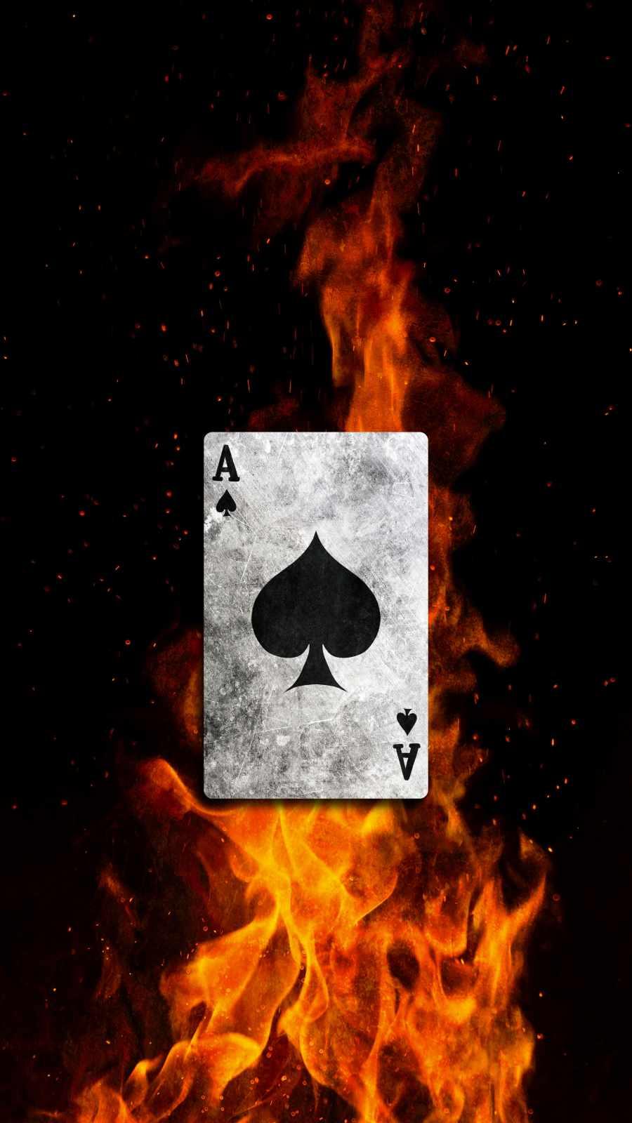 Ace Card Burning