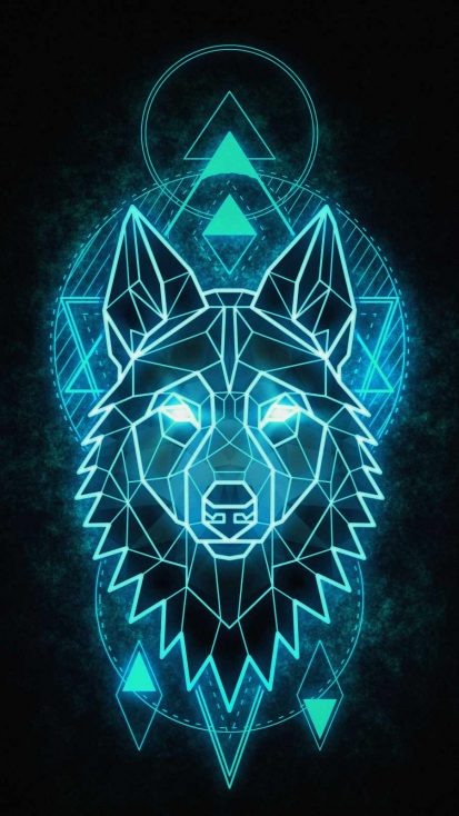 Alpha Wolf Art iPhone Wallpaper