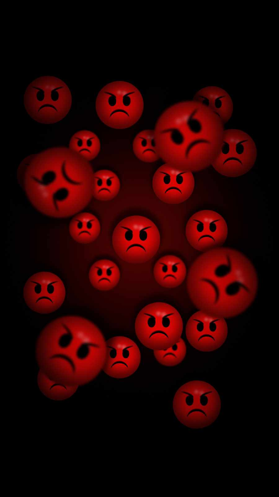Angry Faces iPhone Wallpaper
