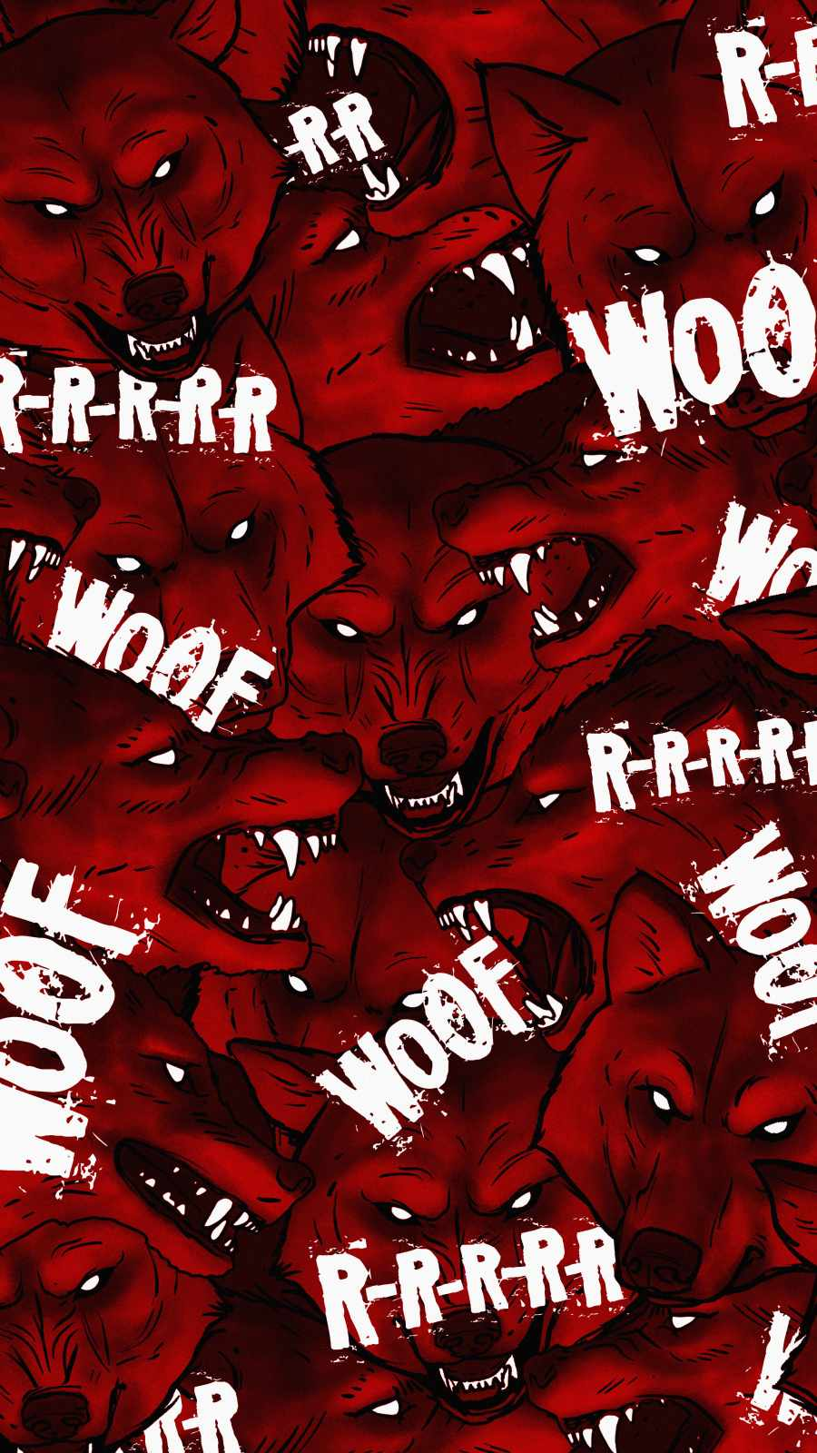Angry Wolfs iPhone Wallpaper