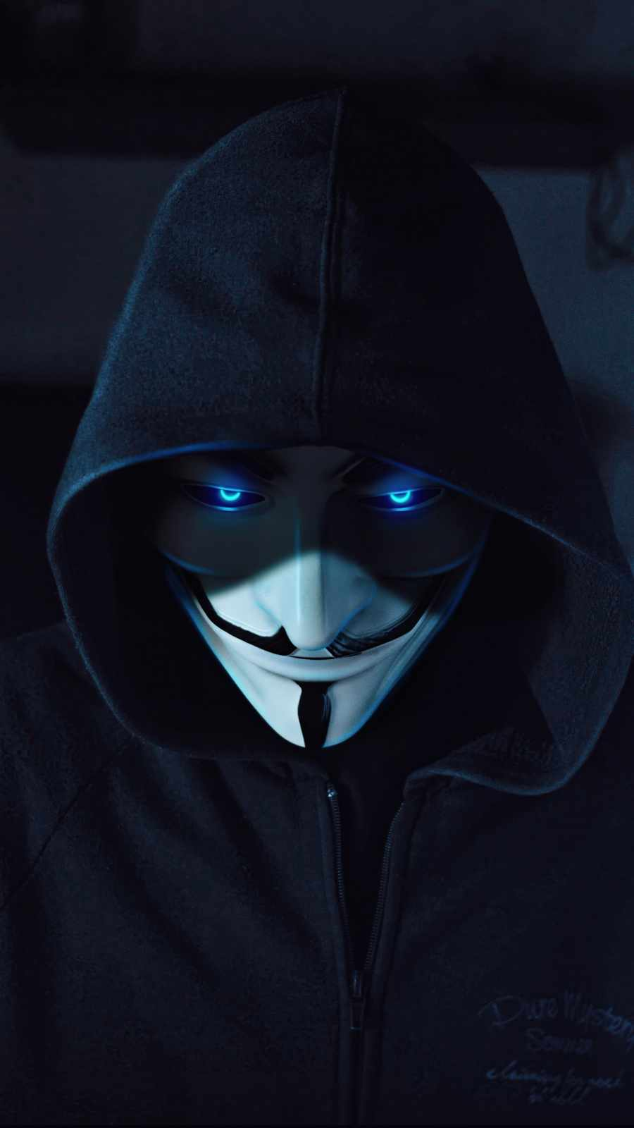 Anonymus guy blue eyes