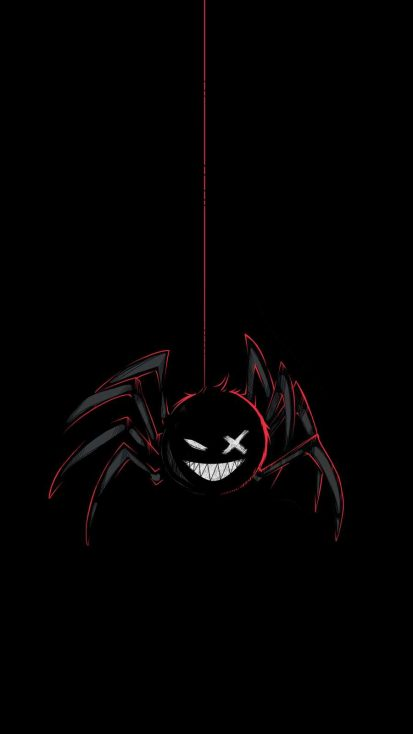 Black Spider iPhone Wallpaper