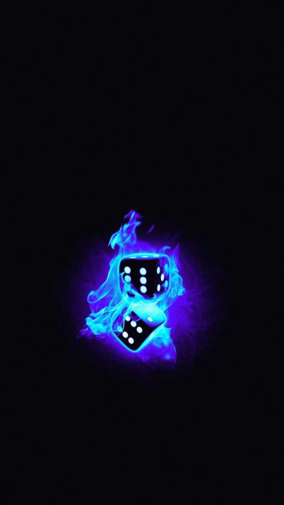 Burning Dices iPhone Wallpaper