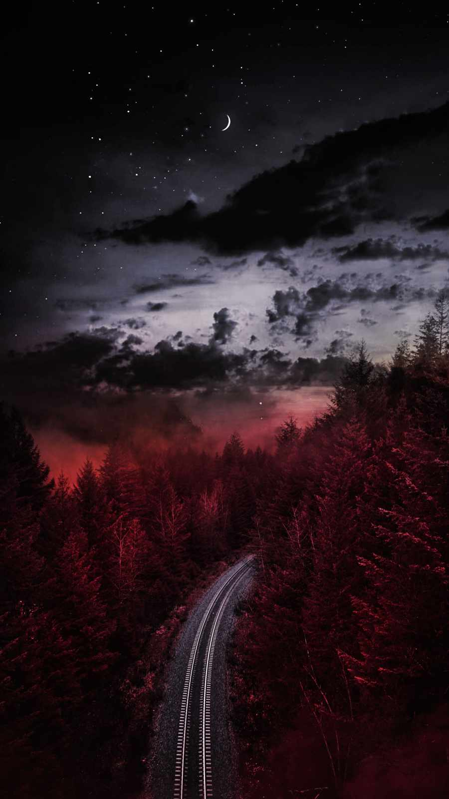 Cloudy Night Rail Road