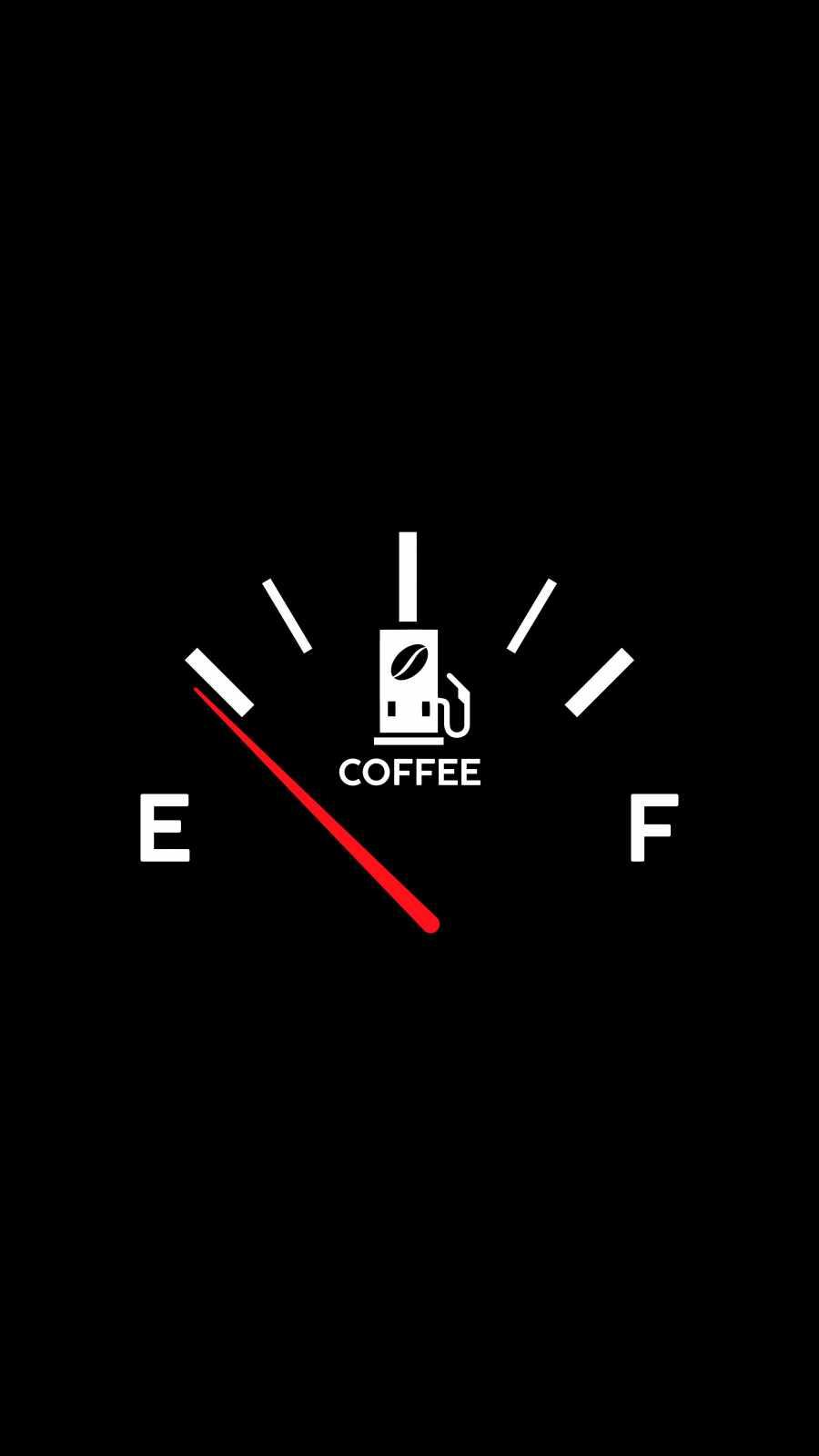 Coffee Fuel Low iPhone Wallpaper