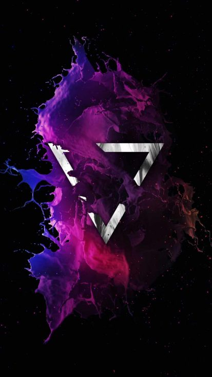 Colorful Triangle iPhone Wallpaper