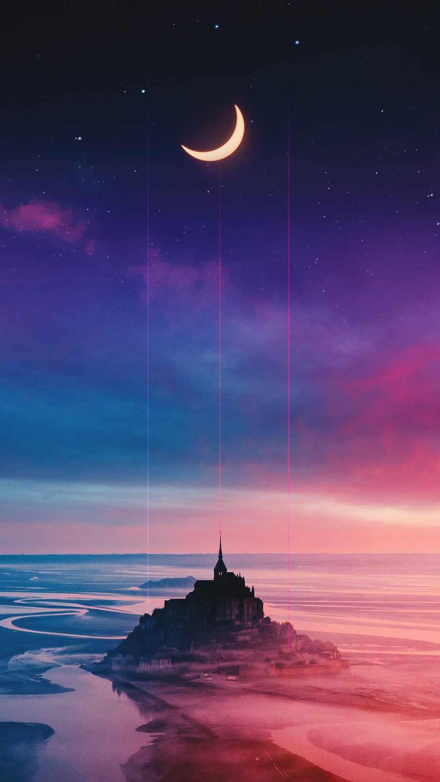 Crimson Castle iPhone Wallpaper