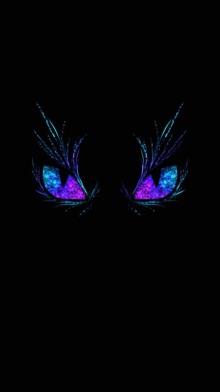 Dark Glowing Eyes iPhone Wallpaper