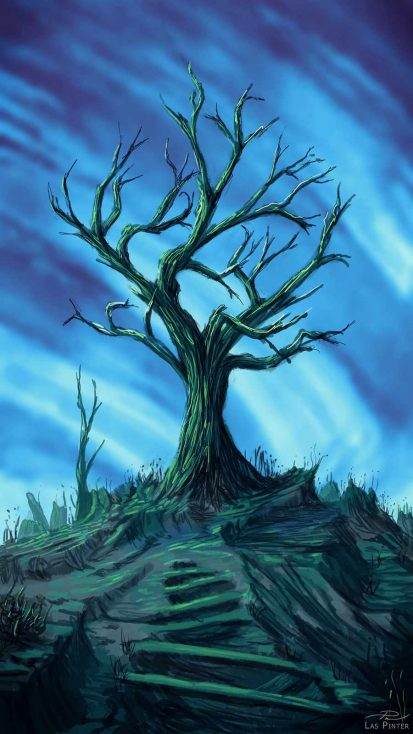 Dead Tree Art iPhone Wallpaper