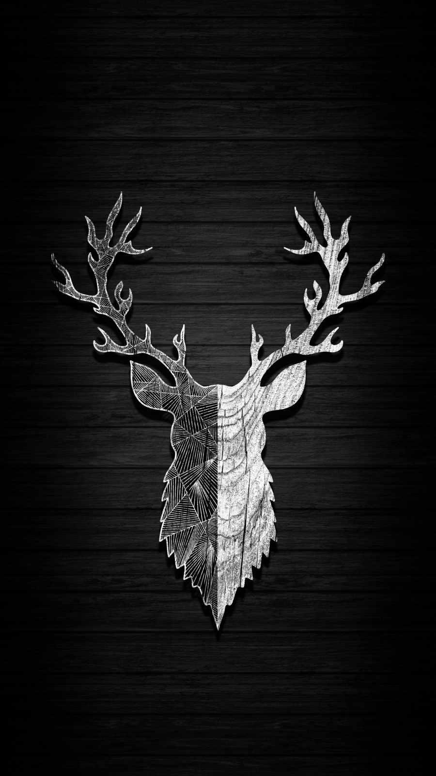 Deer Art iPhone Wallpaper
