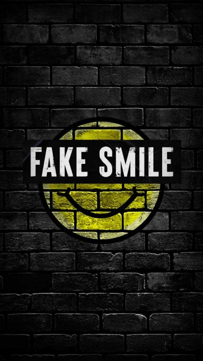 Fake Smile iPhone Wallpaper