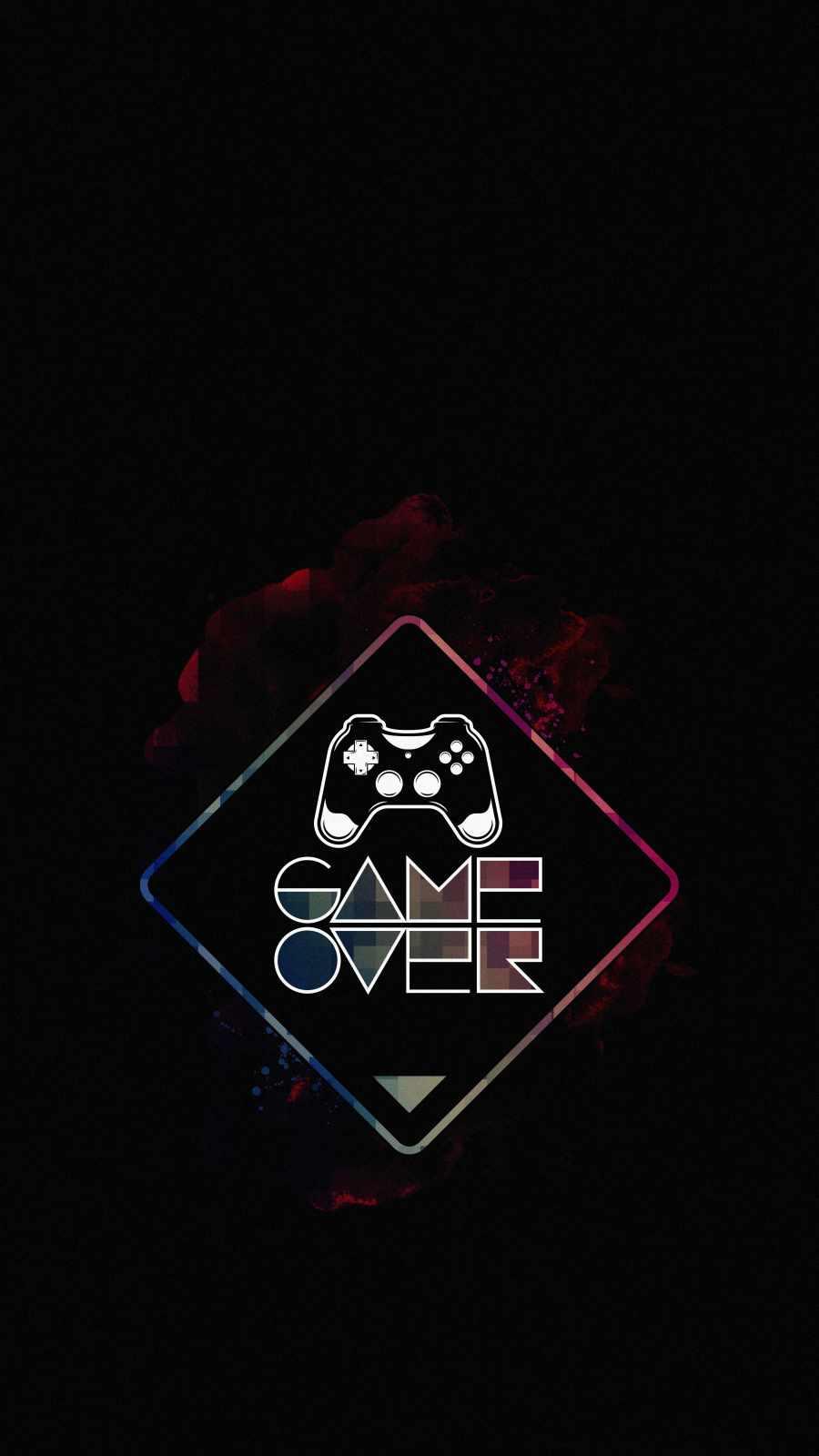 Game Over Dark iPhone Wallpaper