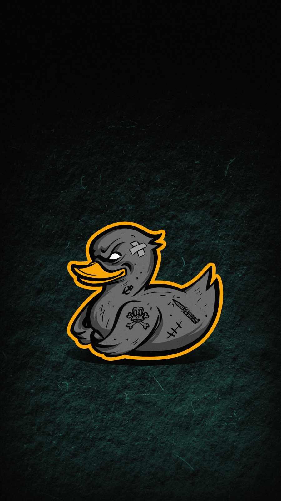 Gangster Duck iPhone Wallpaper