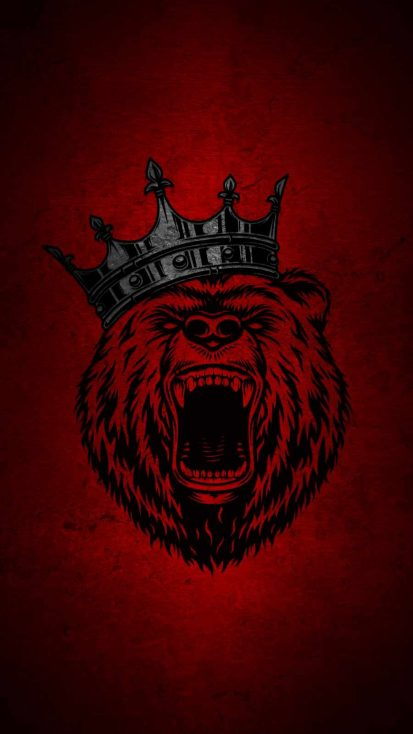 Grizzly Bear King iPhone Wallpaper