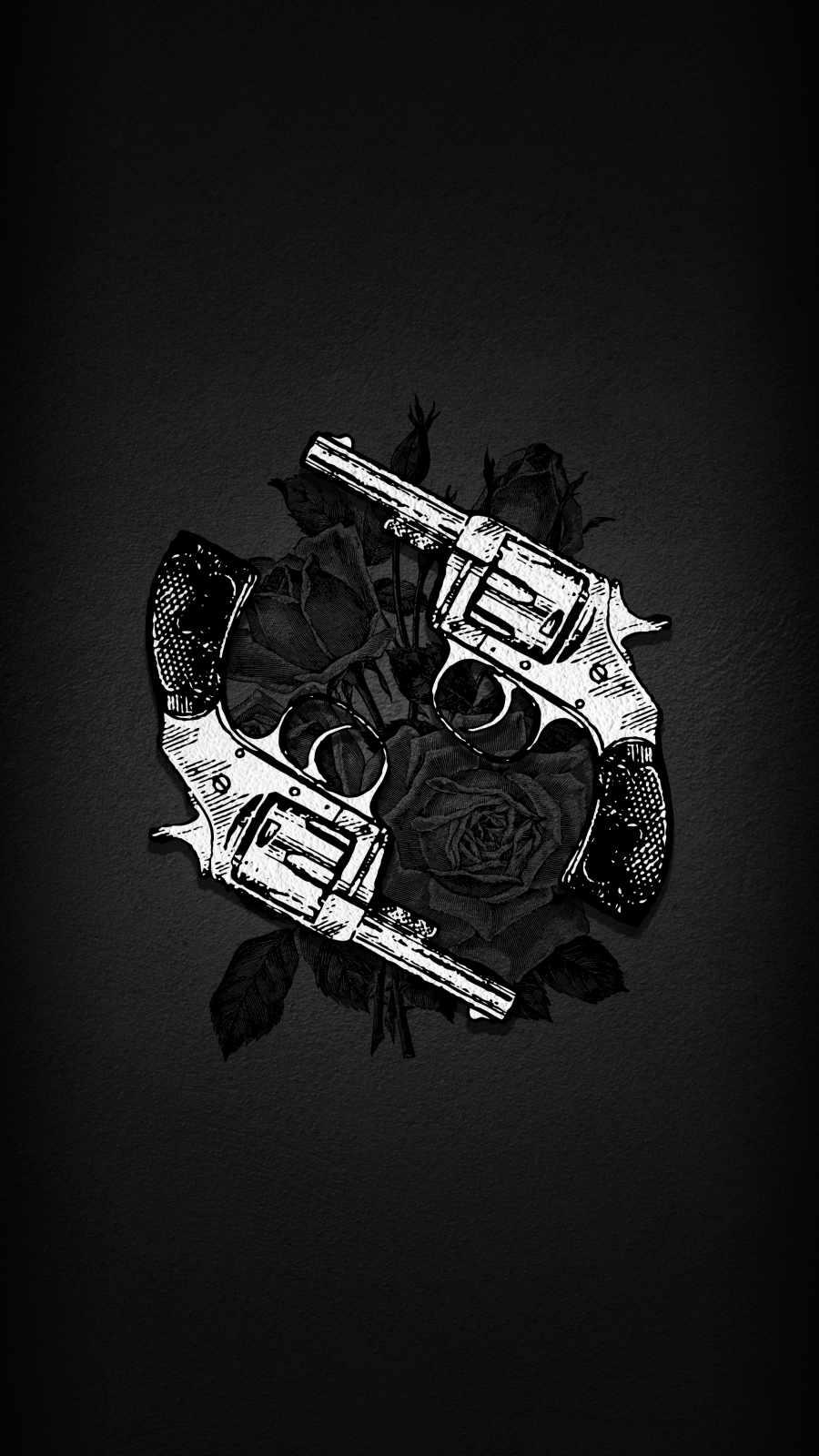 Gun Roses iPhone Wallpaper