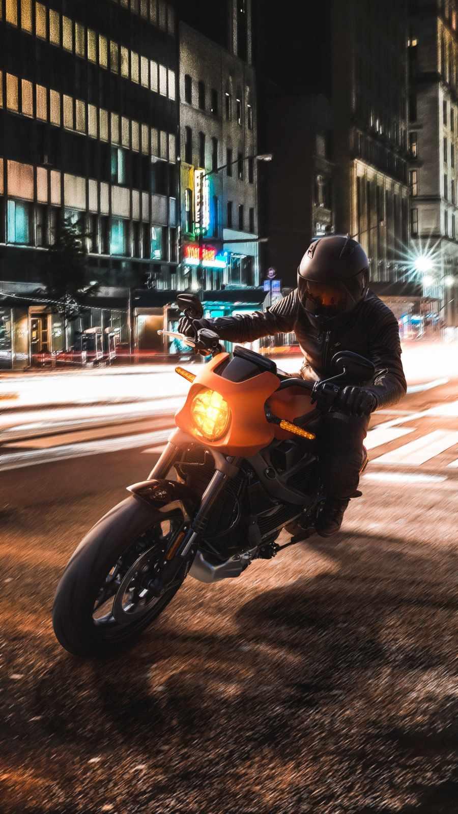 Harley Motorcycle Night Ride