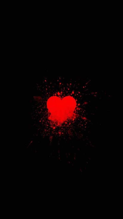 Heart Splash iPhone Wallpaper