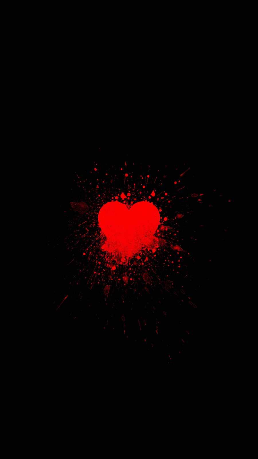 Heart Splash iPhone Wallpaper