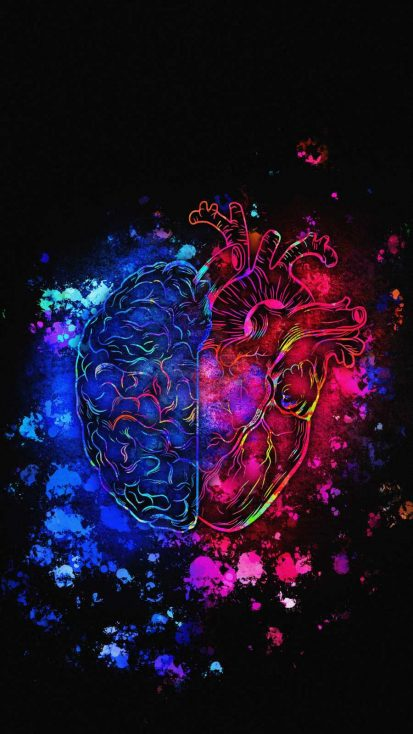 Heart vs Brain Art