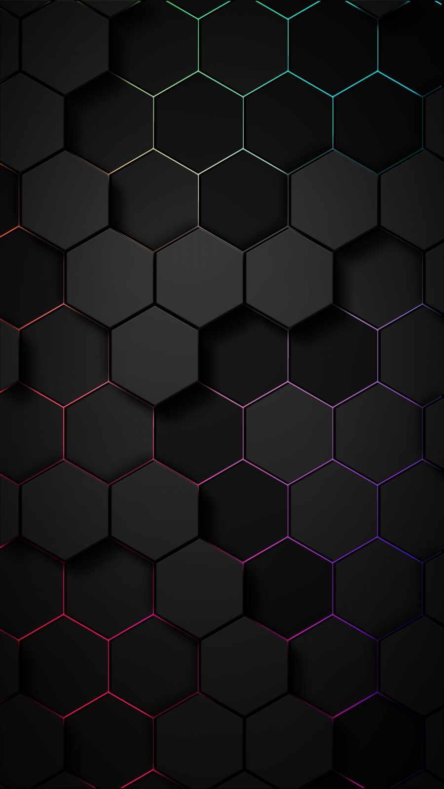 Hexagon 3D iPhone Wallpaper