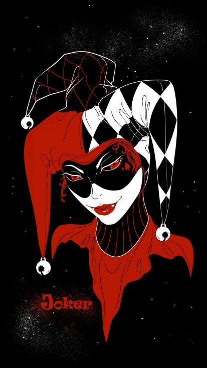 Joker Girl iPhone Wallpaper