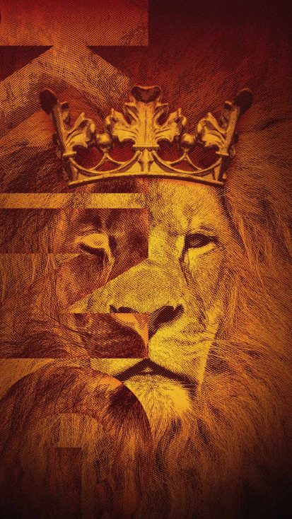 King Lion Art iPhone Wallpaper