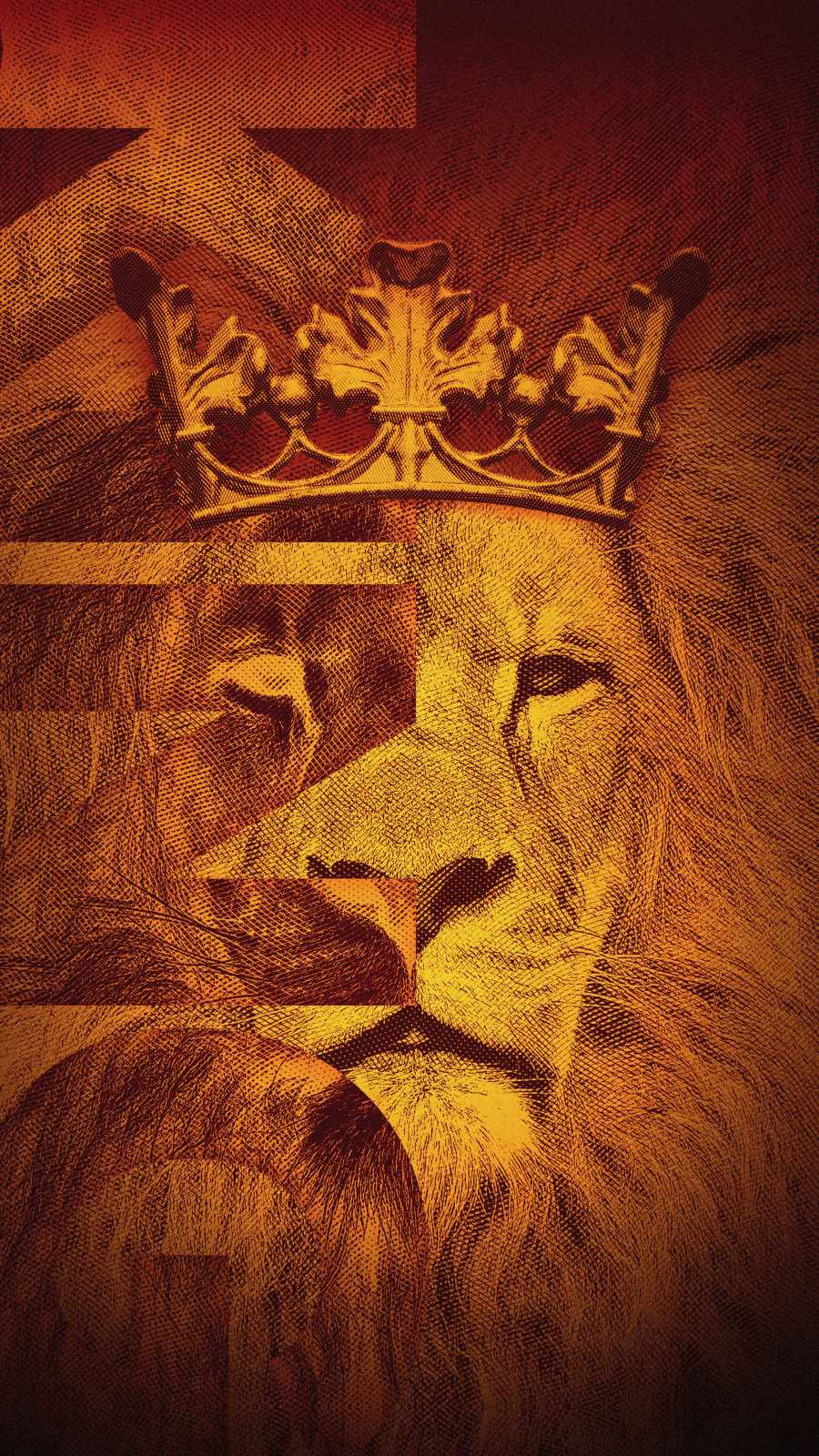 King Lion Art iPhone Wallpaper