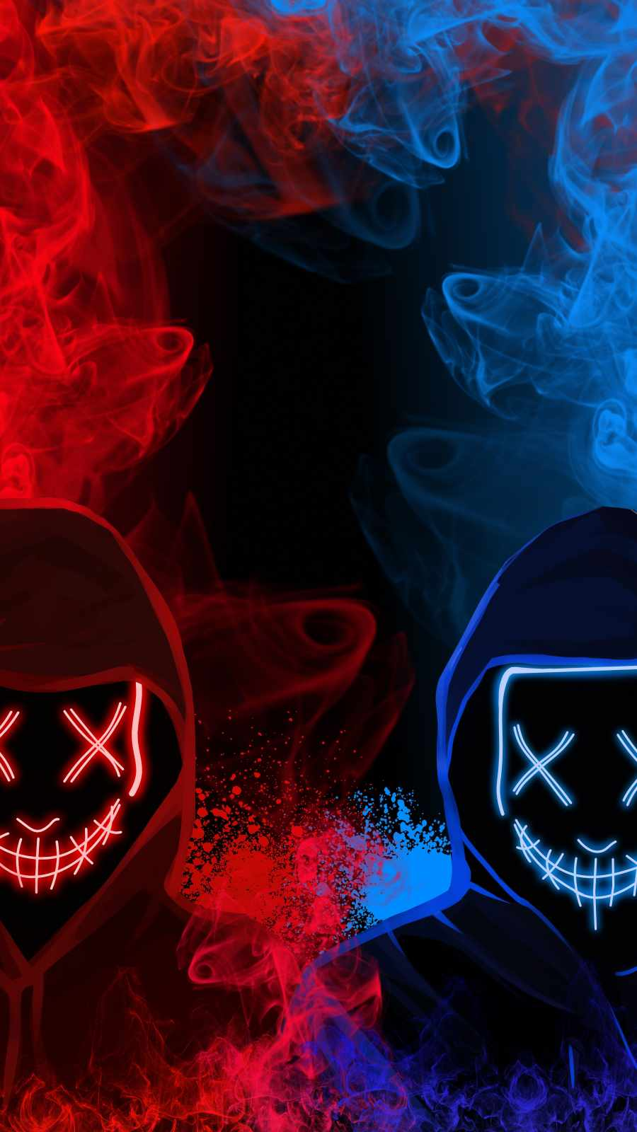 Mask vs Mask iPhone Wallpaper