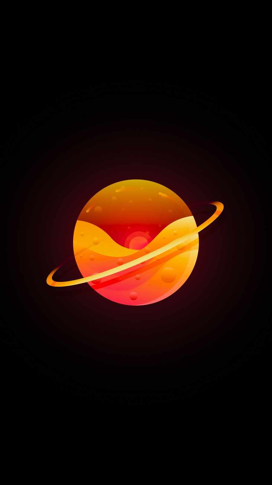 Minimal Saturn iPhone Wallpaper