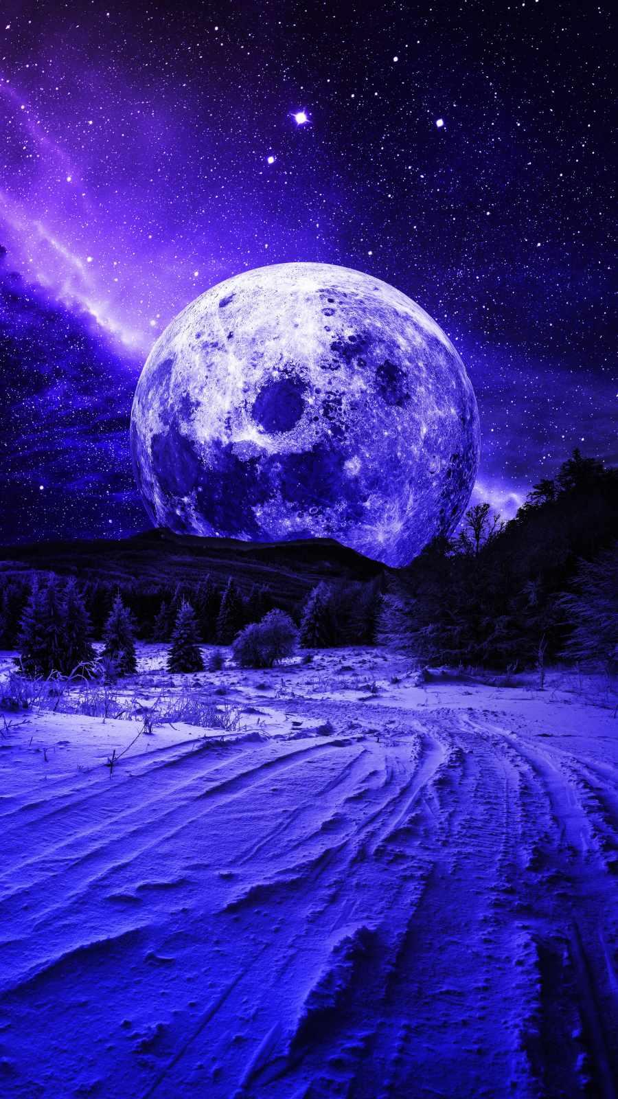 Mountain Moon iPhone Wallpaper