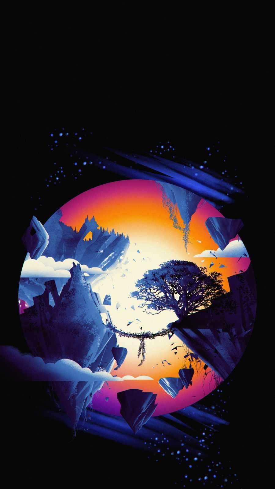 Mountain World iPhone Wallpaper