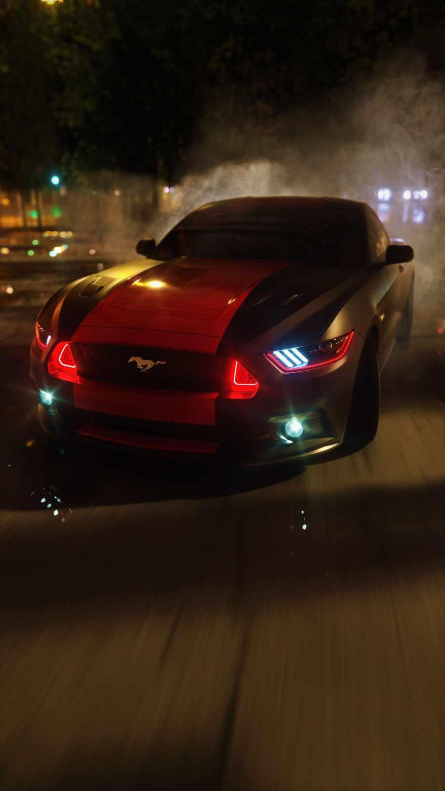 Mustang Racing iPhone Wallpaper