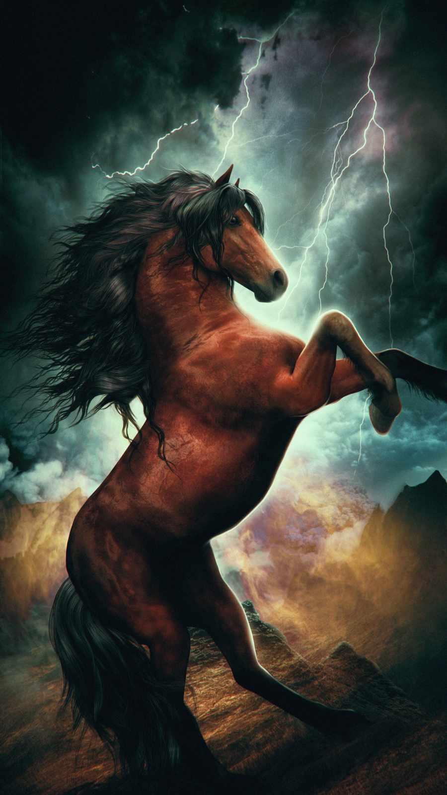 Mystic Horse iPhone Wallpaper