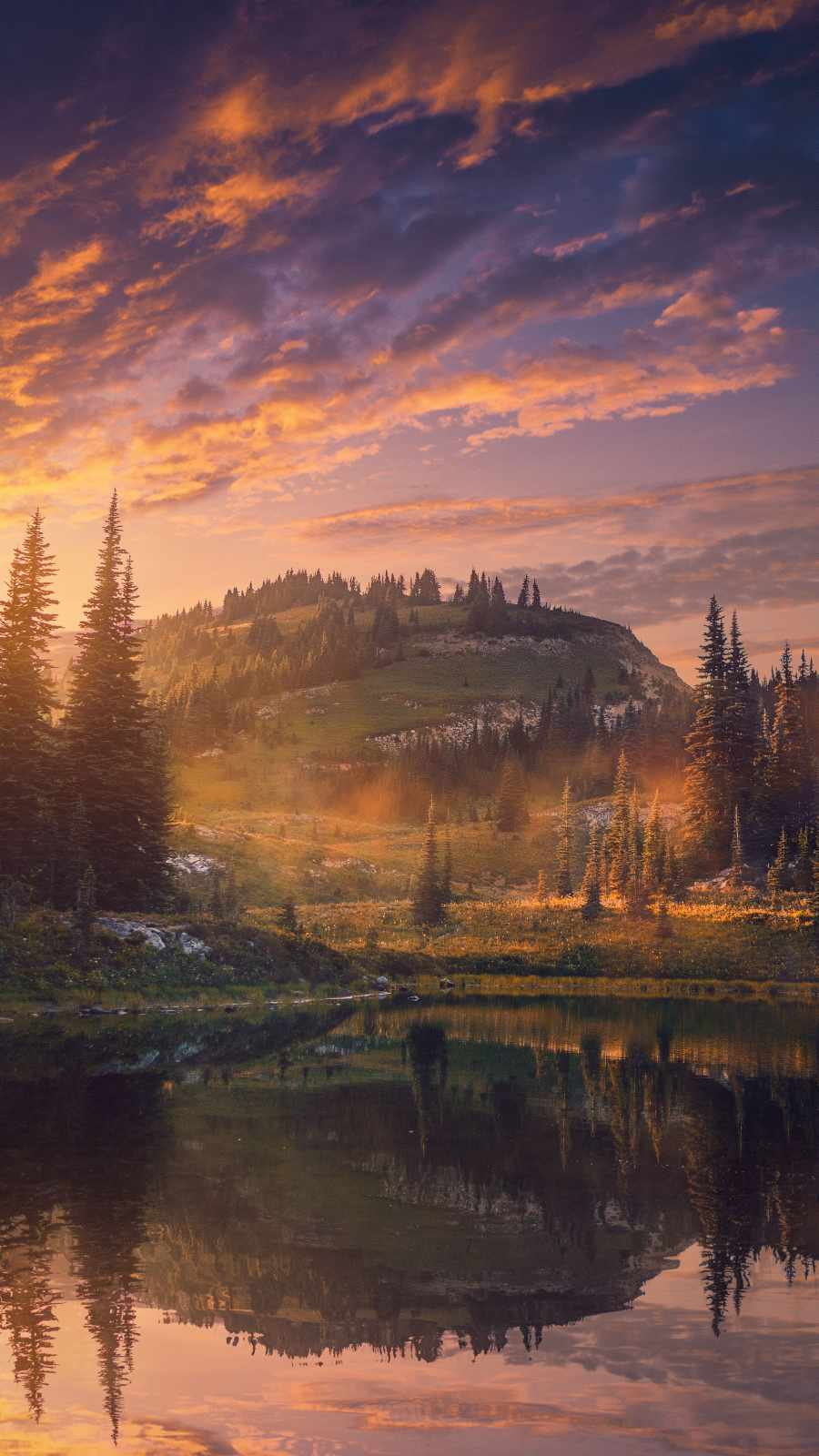 Nature Mountain Lake Reflection