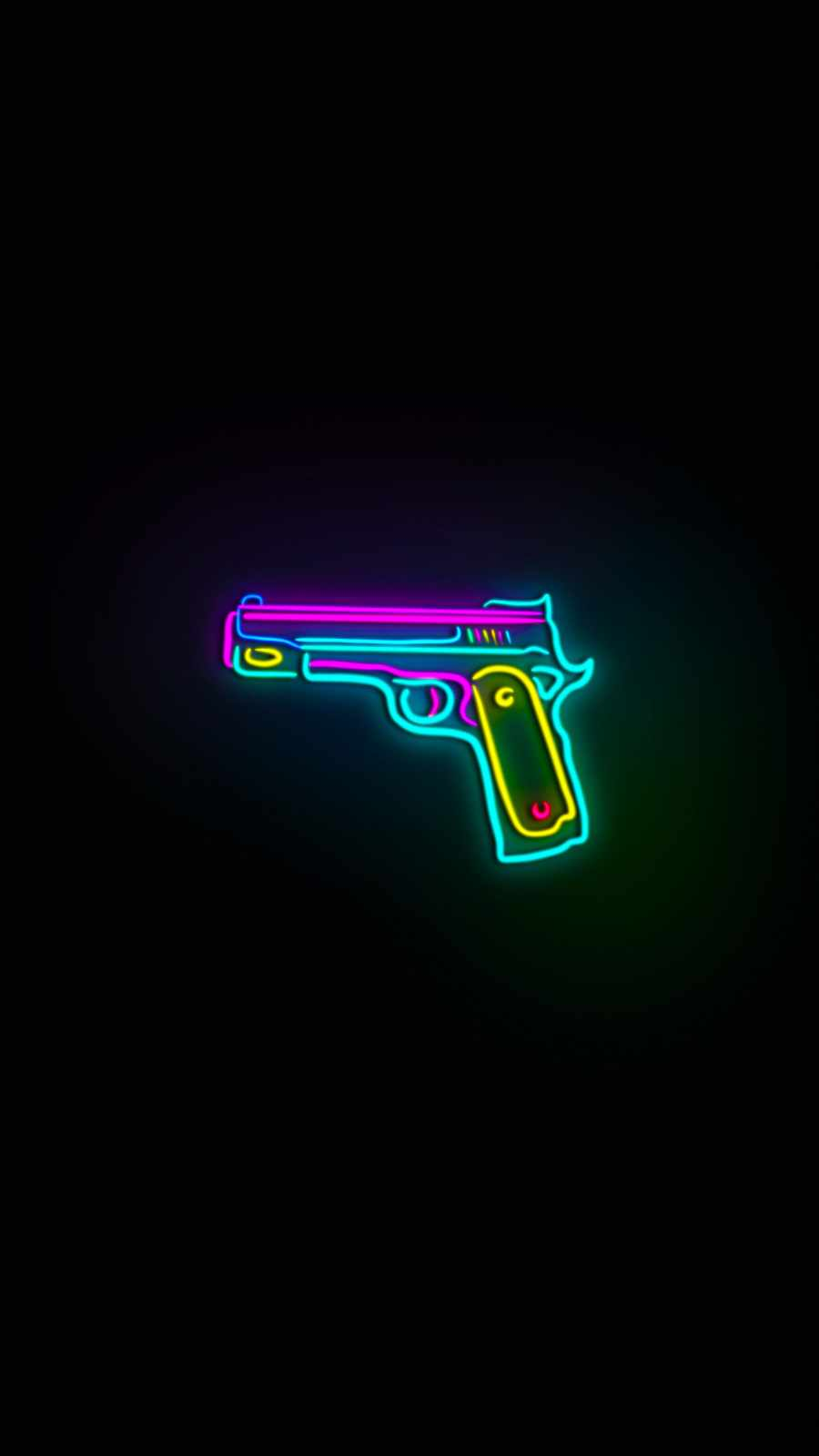Neon Gun iPhone Wallpaper