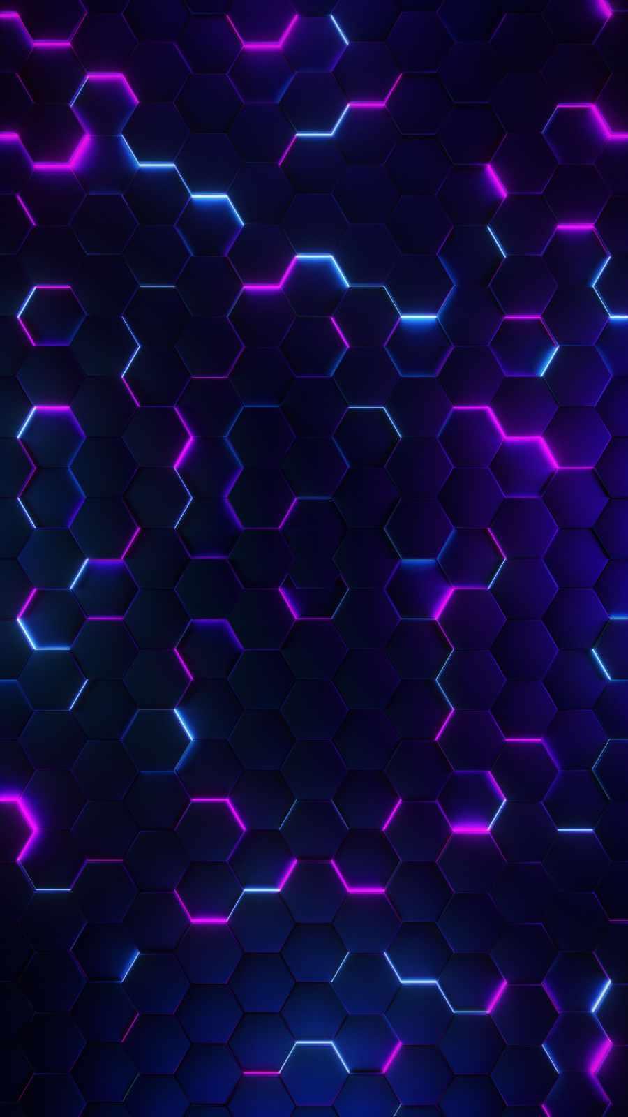 Neon Hexagon Art
