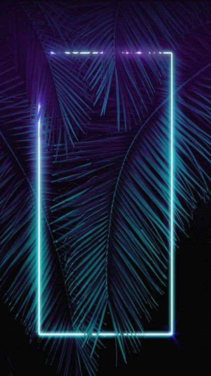Neon Light Palm Tree